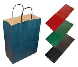 BLUE BAG 02 275x235 - 20 Dark Blue Paper Twist Handles Party Gift Bags & Coloured Tissue Paper
