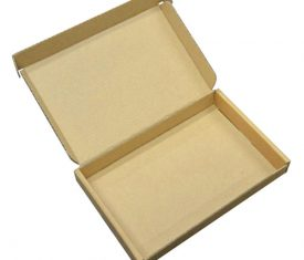 large letter box 01 a6 brown 275x235 - 195mm x 130mm x 20mm Brown Large Letter PIP Cardboard Mailing Postal Boxes (Copy)