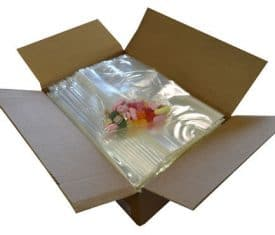 1000 Clear Christmas Cellophane Display Party Bags Sweets Cake 305 x 202 x 152mm