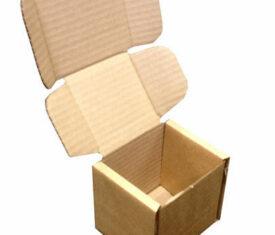 102mm x 102mm x 102mm Small Brown PIP Die Cut Cardboard Postal Mailing Boxes