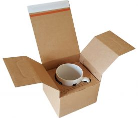 120mm x 117mm x 135mm Cardboard Postal Mailing Boxes for Mugs Pack of 10