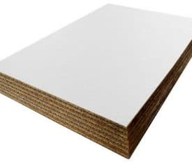 150mm x 150mm White Cardboard Corrugated Sheets Board Pallet Layer Pads Qty 100