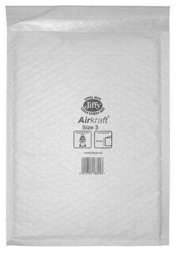 205mm x 320mm JL3 Jiffy Lite Airkraft Bags White x 50 130560967940 - 205mm x 320mm JL3 Jiffy Lite Airkraft Bags White x 50