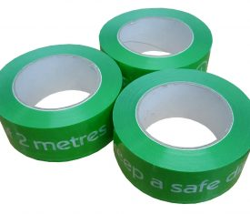 48mm x 66m Social Distancing 2m Distance Floor Marking Tape Green Qty 3 Rolls