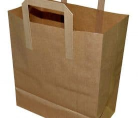 50 Large Brown 260mm x 140mm x 300mm Kraft Paper Takeaway Take Out Bags