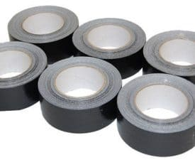 6 Rolls 50mm x 50m Black Gaffer Gaffa Waterproof Duct Duck Cloth Adhesive Tape