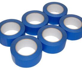 6 Rolls 50mm x 50m Blue UV Resistant Painters Decorating Masking Tape