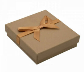 Champagne Gift Box for Bracelets with Satin Ribbon 103mm x 95mm x 25mm Qty 1 Box