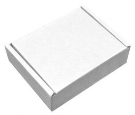 Small Parcel White Die Cut Cardboard Postal Mailing Boxes 178mm x 150mm x 53mm