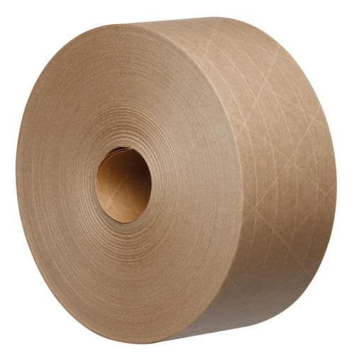 Tegrabond 48mm x 100m Brown Water Activated Reinforced Packing Tape 24 Rolls 162010781500 - Tegrabond 48mm x 100m Brown Water Activated Reinforced Packing Tape 24 Rolls