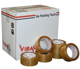 Vibac Clear No Noise Polypropylene Adhesive Tape 48mm x 66m Qty 36