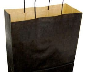 "150 Black Paper Twist Twisted Handle Carrier Party Gift Bags 9"" x 4"" x 12"""
