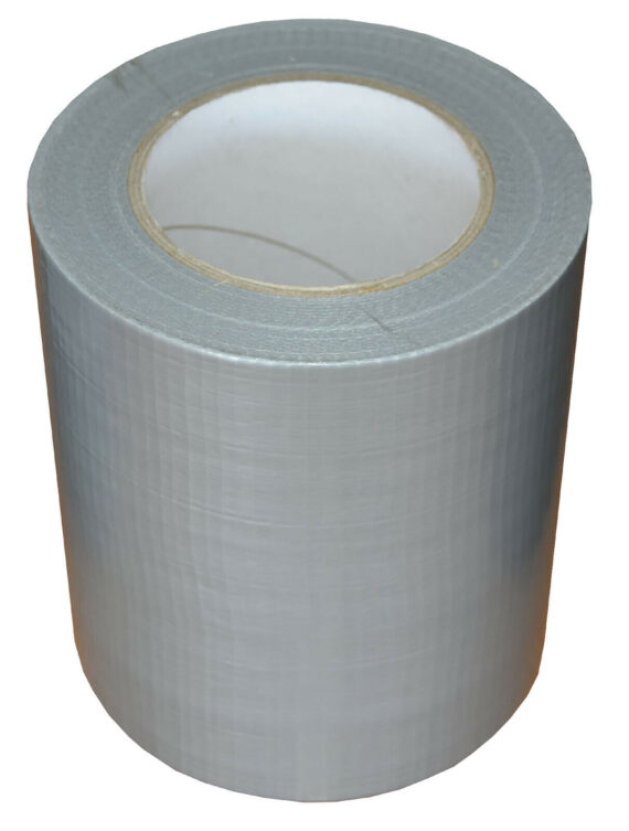 150mm x 50m Silver Gaffer Tape Waterproof Duct Tape Qty 8 Rolls