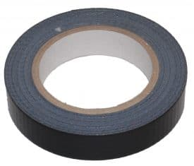 2 Rolls 25mm x 50m Black Gaffer Gaffa Waterproof Duct Duck Cloth Adhesive Tape