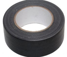 2 Rolls 38mm x 50m Black Gaffer Gaffa Waterproof Duct Duck Cloth Adhesive Tape