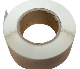 25mm Clear Tamper Evident Adhesive Labels Roll of 1000