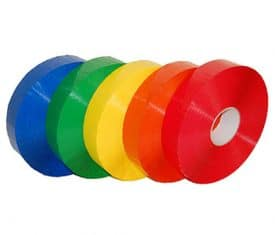 6 Rolls 50mm x 990m PM89 Poly Acrylic Machine Packing Adhesive Tape - 6 Colours