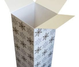 Gold Silver Snowflake Christmas Cardboard Wine Bottle Presentation Gift Boxes