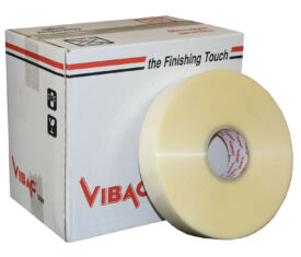 Vibac Clear Hot Melt Polypropylene Machine Adhesive Tape 48mm x 990m Qty 6