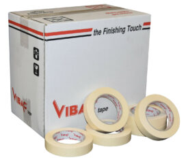 Vibac Cream Paper Masking Tape Adhesive 25mm x 50m Qty 36