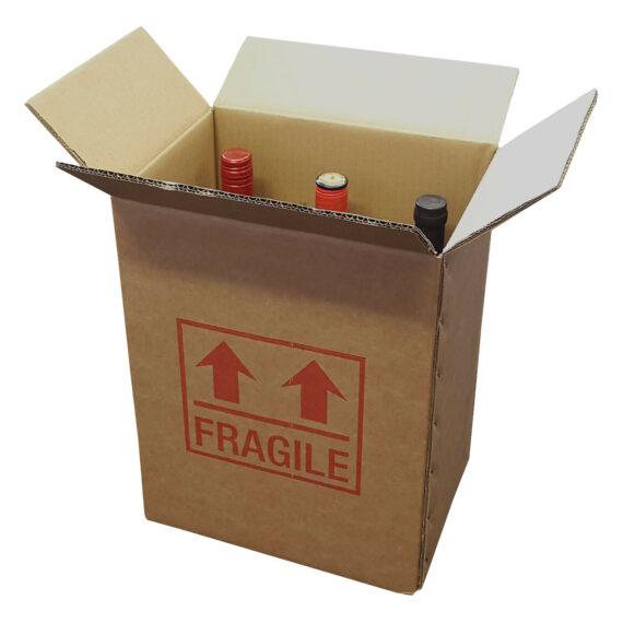 1 Strong Cardboard 6 Bottle Wine Box 275mm x 190mm x 335mm Printed Fragile 143177227542 570x570 - 1 Strong Cardboard 6 Bottle Wine Box 275mm x 190mm x 335mm Printed Fragile