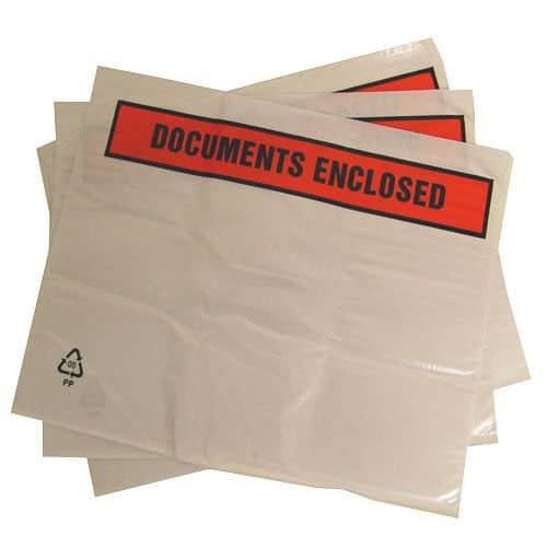 1000 A7 C7 Printed Documents Enclosed 113mm x 100mm Packing Wallets Envelopes