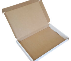 195mm x 130mm x 20mm White Large Letter PIP Cardboard Mailing Postal Boxes