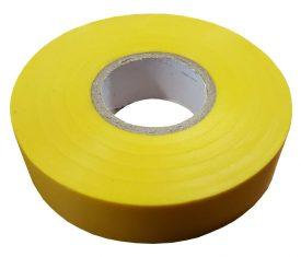 19mm x 33m Yellow Flame Retardant Electrical PVC Tape Qty 1 Roll