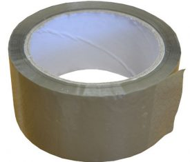 "2"" 48mm x 66m Brown Buff Acrylic Parcel Packing Tape 2 6 12 36 72 144 Rolls"