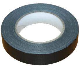 25mm x 50m Black Gaffer Tape Waterproof Duct Tape Qty 6 Rolls