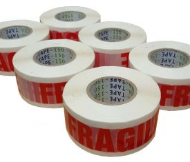 48mm x 150m Extra Long Fragile Printed Adhesive Parcel Tape Qty 6 Rolls
