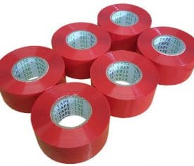 48mm x 150m Extra Long Red Parcel Sealing Packing Tape Cellotape Qty 6 Rolls