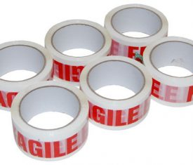 48mm x 66m Fragile Packing Parcel Moving House Adhesive Tape qty 6 Rolls