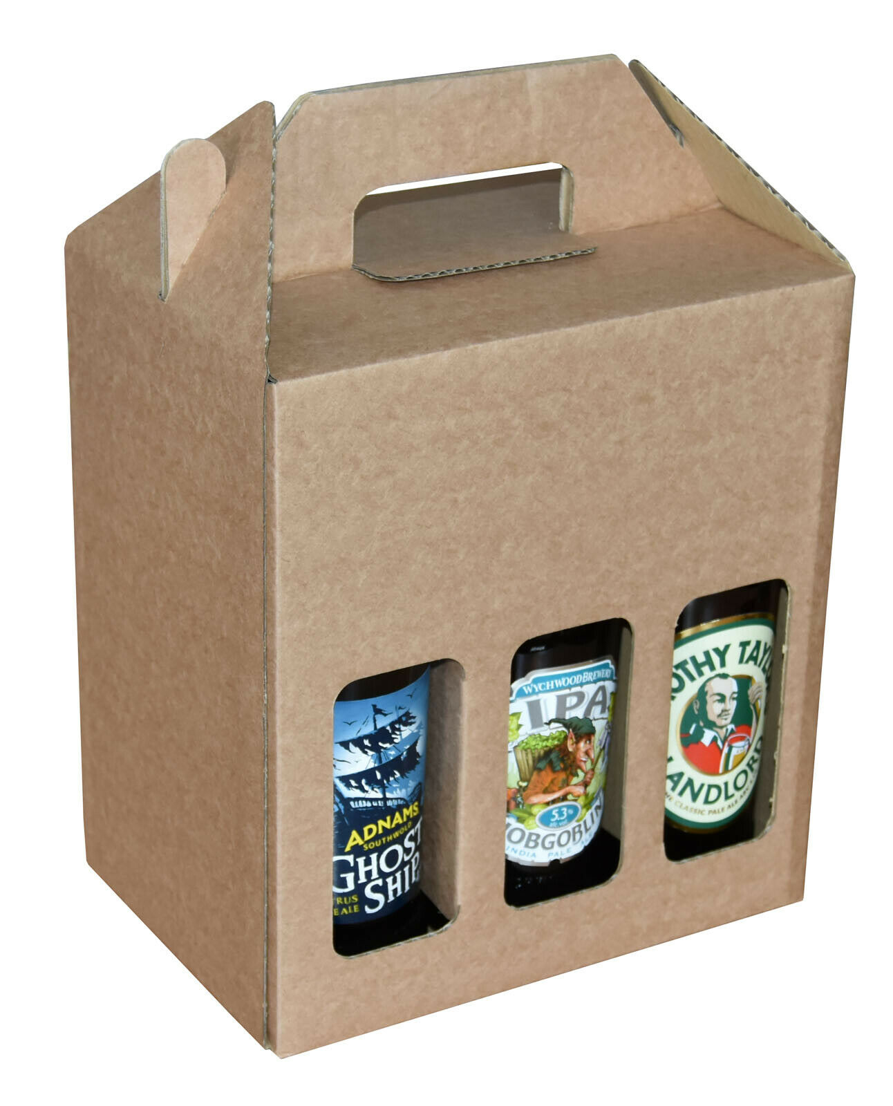 Beer Bottle Carrier Box Christmas Gifts Holds 6 Bottles up to 245mm x 70mm