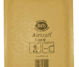 Box of 100 Gold Jiffy Airkraft Bubble Envelopes Size 0 140mm x 195mm 163681397222 275x235 - Box of 100 Gold Jiffy Airkraft Bubble Envelopes Size 0 140mm x 195mm