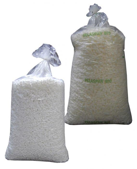 Plain Polystyrene or Bio Degradable Chips Packing Peanuts Loose Void Fill