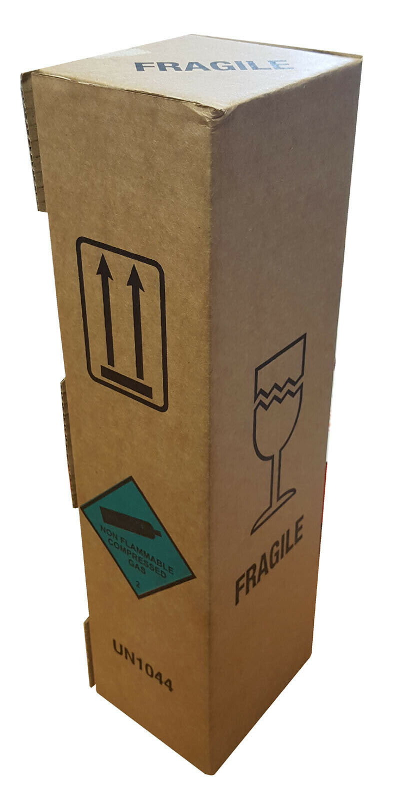 Strong Cardboard Boxes Printed Fragile Compressed Gas for Fire Extinguishers 163816516402 - Strong Cardboard Boxes Printed Fragile Compressed Gas for Fire Extinguishers
