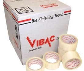 Vibac Hot Melt Clear Poly Parcel Packing Packaging Tape 66m 48mm Qty 36