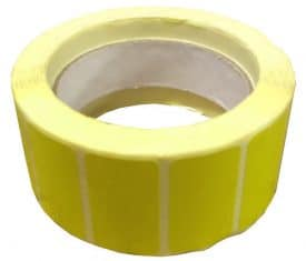 1 Roll 1000 Labels 45mm x 25mm Yellow Thermal Printer Address Adhesive Label