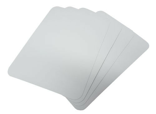 225mm x 165mm 275gsm White Glossy Card Sheets Clothing Garments Cards Inserts