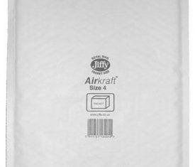 230mm x 320mm JL4 Jiffy Lite Airkraft Bags White x 50