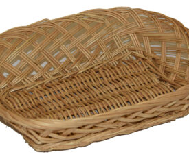 250mm x 200mm x 50mm Small Wicker Basket for Easter and Christmas Gifts Qty 1