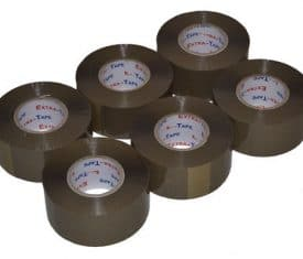 48mm x 150m Extra Long Buff Parcel Sealing Packing Tape Cellotape Qty 6 Rolls