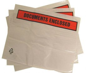 500 A4 318mm x 235mm Self Adhesive Printed Documents Enclosed Wallets