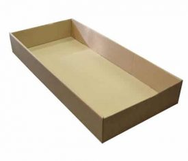 740mm x 330mm x 100mm Large Cardboard Trays Fruit Cans Drinks Veg Boxes Qty 25