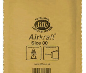 Box of 100 Gold Jiffy Airkraft Bubble Envelopes Size 00 115mm x 195mm 143243658553 275x235 - Box of 100 Gold Jiffy Airkraft Bubble Envelopes Size 00 115mm x 195mm