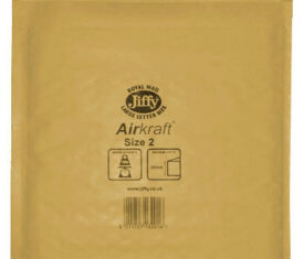Box of 100 Gold Jiffy Airkraft Bubble Envelopes Size 2 205mm x 245mm 143243641293 275x235 - Box of 100 Gold Jiffy Airkraft Bubble Envelopes Size 2 205mm x 245mm
