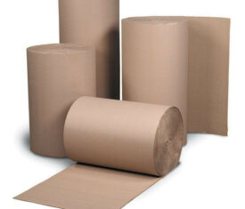 Corrugated Cardboard Paper Rolls – 75m Full Rolls – Range of Widths Available