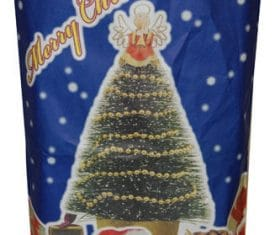 Large Blue Christmas Xmas Paper Present Sack Stocking 800mm x 480mm x 160mm