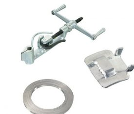 STAINLESS STEEL STRAPPING TOOL KIT TENSIONER BUCKLES 0.726mm thickness 30m